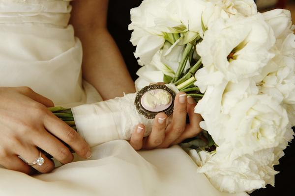bouquet vintage bianco
