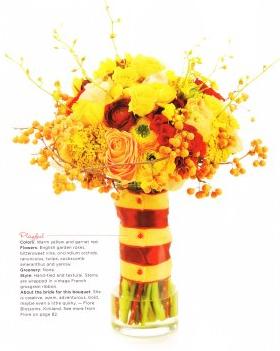 bouquet sposa giallo e rosso
