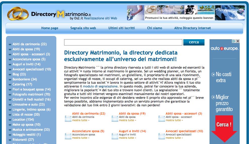 directory matrimonio