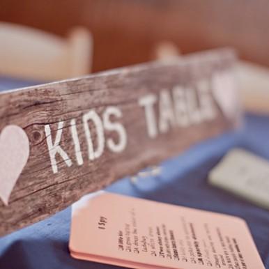bambini al matrimonio-tavolo