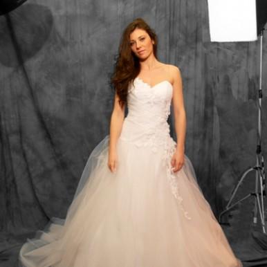 abito da sposa tulle siena