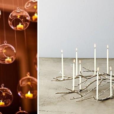 centrotavola candele matrimonio Natale