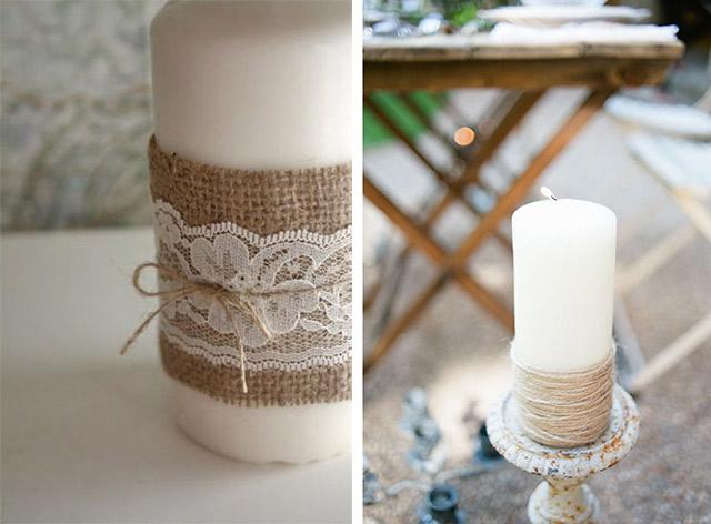Nozze ganze tutto per sposarsi in toscana centrotavola - Decorazioni con candele ...