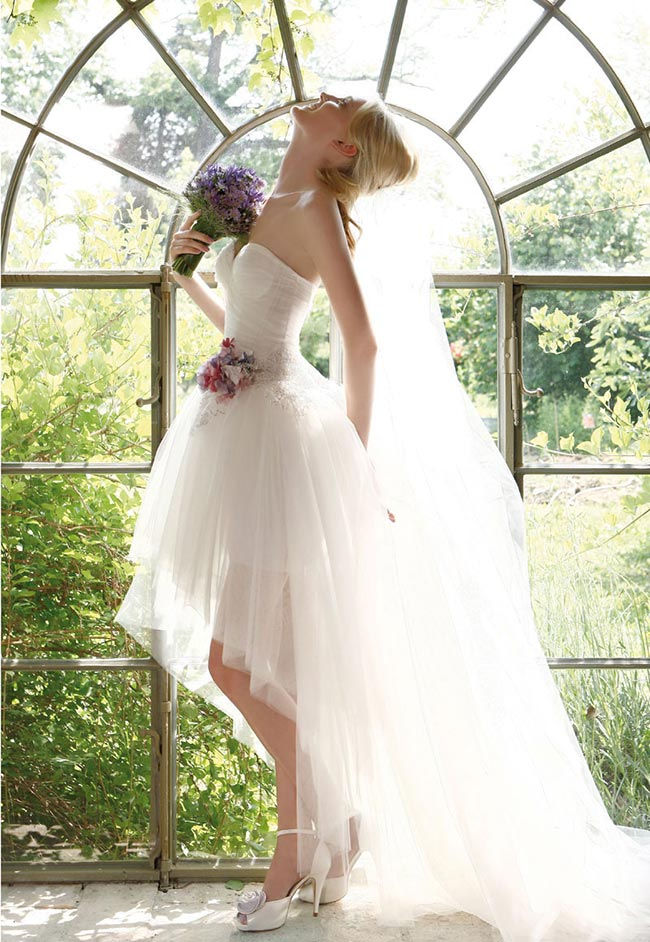 ... in Toscana Abiti da sposa corti 2014 - Idee per un look frizzante