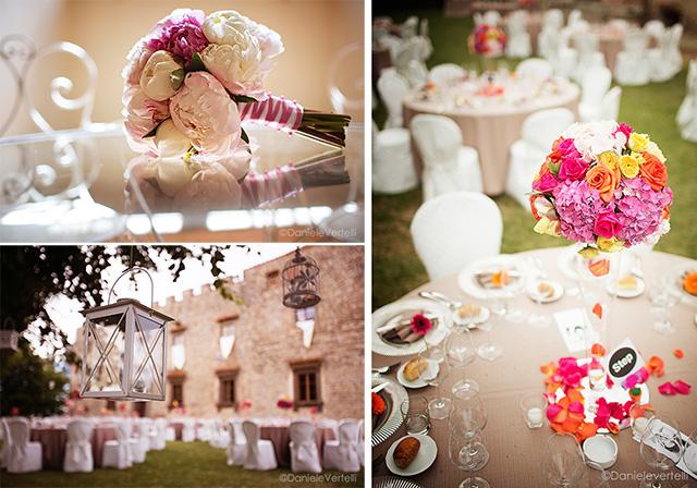 fiori colorati location Toscana