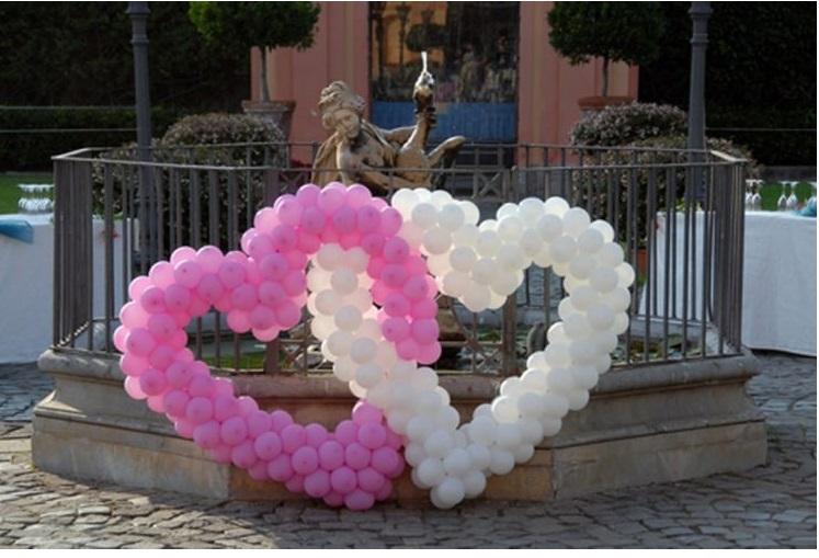 Nozze ganze tutto per sposarsi in toscana allestimento di palloncini per matrimonio ad arezzo - Decorazioni matrimonio palloncini ...