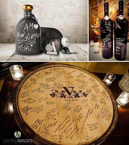 guest-book matrimonio a tema vino