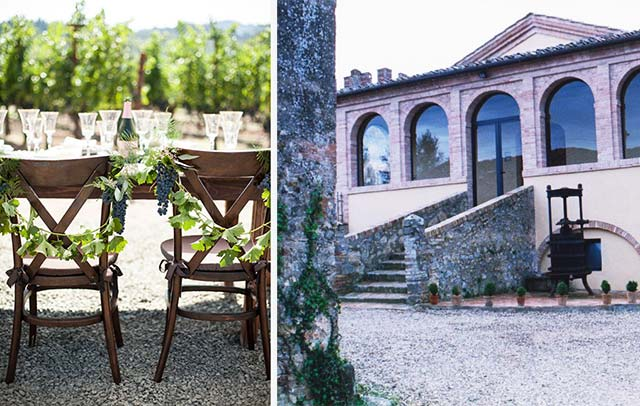 location matrimonio a tema vino