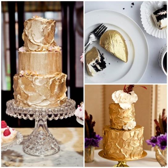 torta-nuziale-gialla-dorata